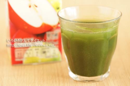 DHCよくばり青汁アレンジレシピ:りんごジュース割り